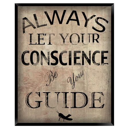Your own conscience