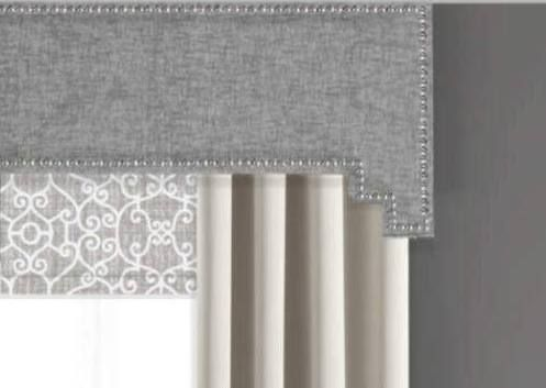 cornice valance window treatments white wood window window cornice board valance custom curtains draperies by designerhomes contemporary gray cornices cornices in 2018 pinterest