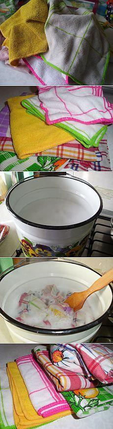 Как отстирать кухонные полотенца и салфетки? Удаляем все пятна легко и просто   Рецепты моей мамы