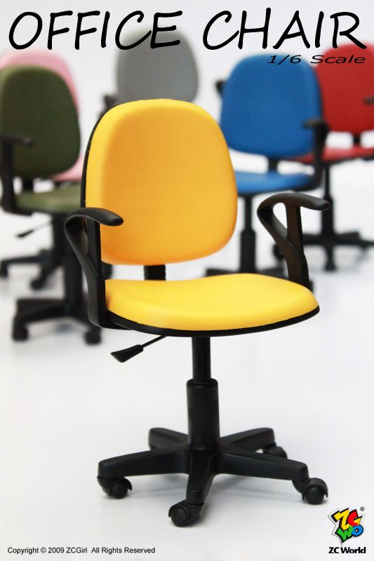 """1/6 scale office chair - perfect for Barbie dolls and even works for 8"""" Ginny and Madame Alexander dolls."""