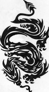 Photo of Tribal Dragons Tattoo Designs von thehoundofulster auf DeviantArt –  Tribal Drag…