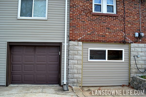 Replacing An Old Garage Door With A Wall Lansdowne Life Old