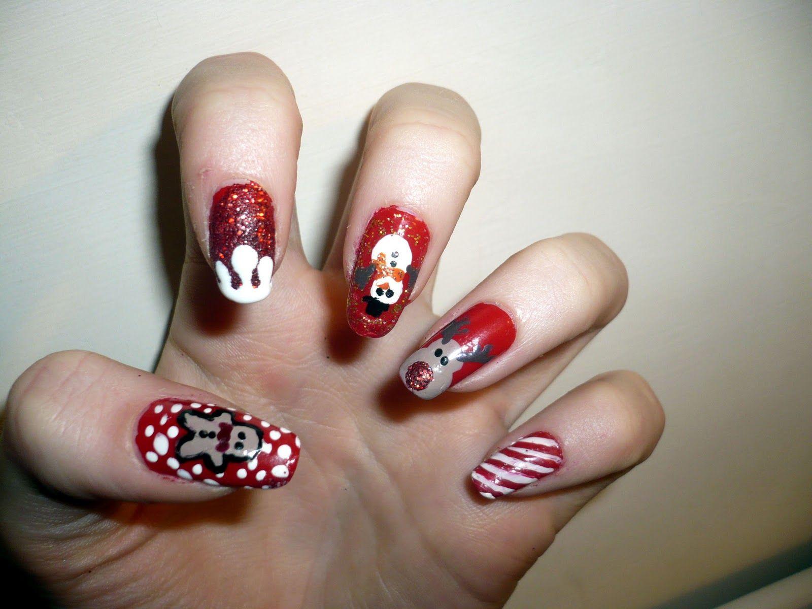 50 Fotos de uñas navideñas – Christmas Nails | Christmas Nails ...