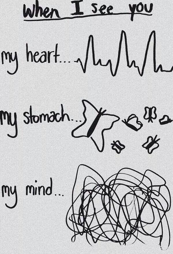 My heart My stomach My mind