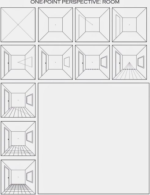 One Perspective Drawing Room: Draw A Surrealistic Room In One Point Perspective (The
