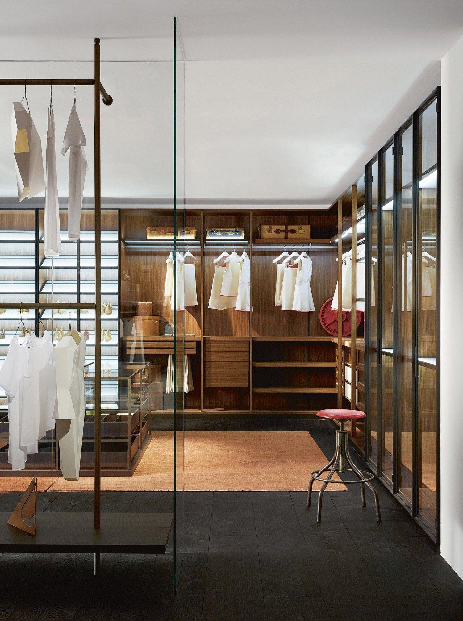 Corner sectional melamine faced chipboard walk in wardrobe DRESSING