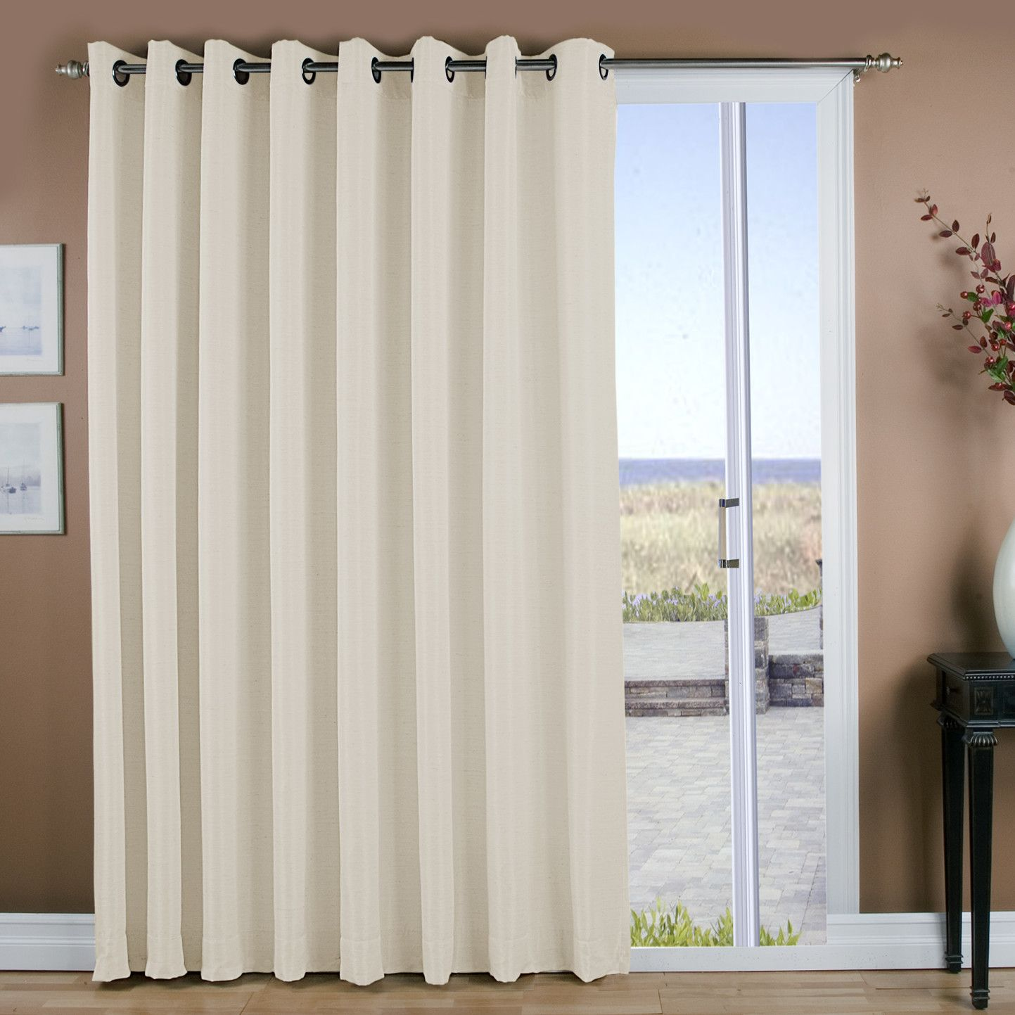youll love the grasscloth lined grommet patio single curtain