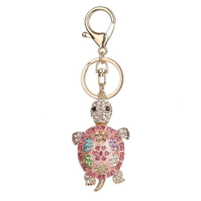 Love Rhinestone Tassel Keychain Bag Handbag Key Ring Car Key Pendant