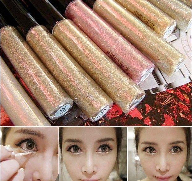 Cosmetici professionali Brillante Bronzer Oro Eye Shadow 7 Colori Ombretto Shimmer Glitter Brillante Trucco maquiagem Libera La Nave