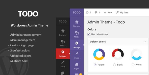 Скачать Todo 1.2.6 WordPress Admin Theme & Login Page Nulled Полная ...