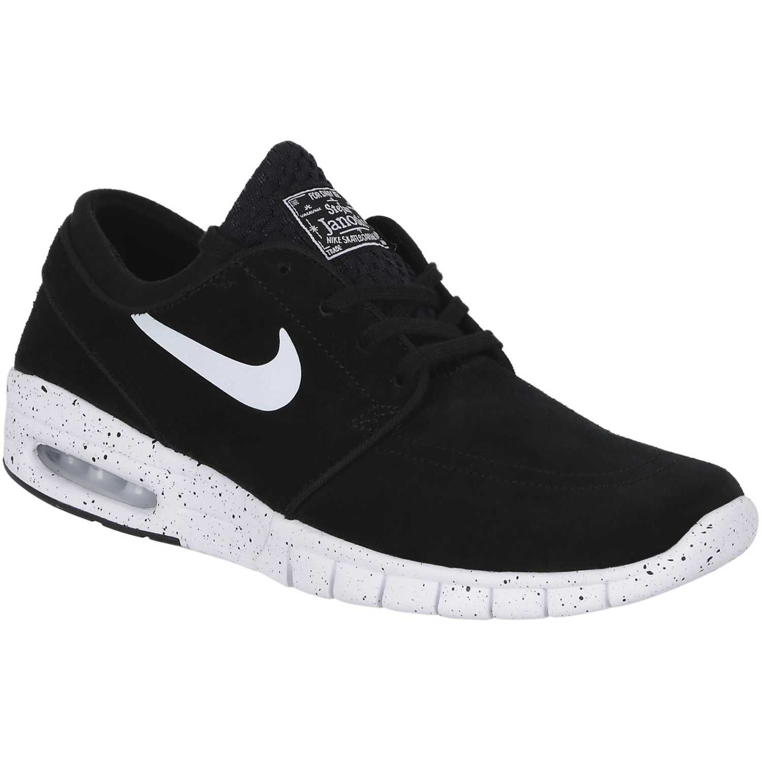 huge selection of f4036 dc341 Zapatilla De Hombre Nike Negro   Blanco Stefan Janoski Max L