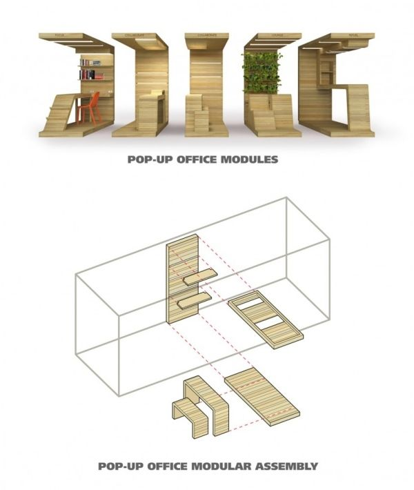 Moduleinheiten aus holz b ro system b ro euro pallette for Architektur design studium