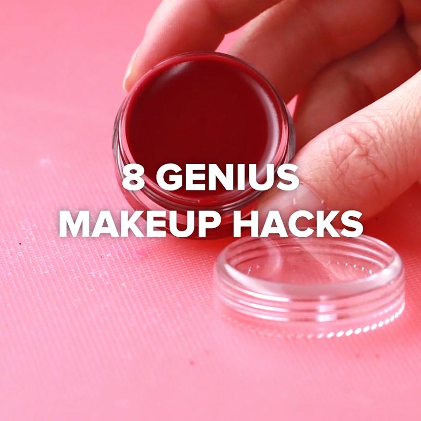 Beauty Hack Makeup: 8 Genius Makeup Hacks // #hacks #makeup #lipstick