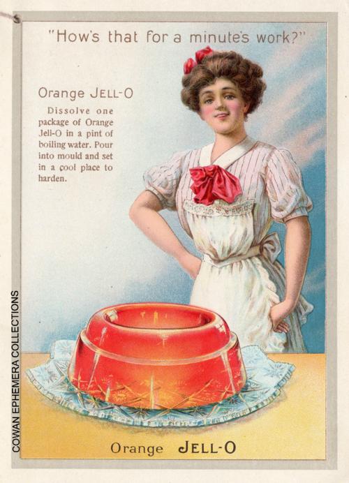 Jello vintage recipe book cowan ephemera collections orange