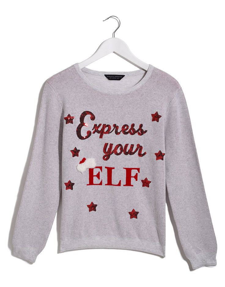 express your elf christmas jumper dreamsparkleshine dorothyperkins