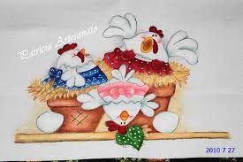 Resultado de imagem para pinturas em tecidos para jogo de cozinha