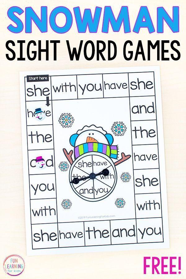 Editable Snowman Word Work Board Game,#board #editable #snowman #winterbastelnkinder