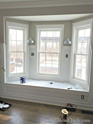 Lovely Bay Windows with Bench