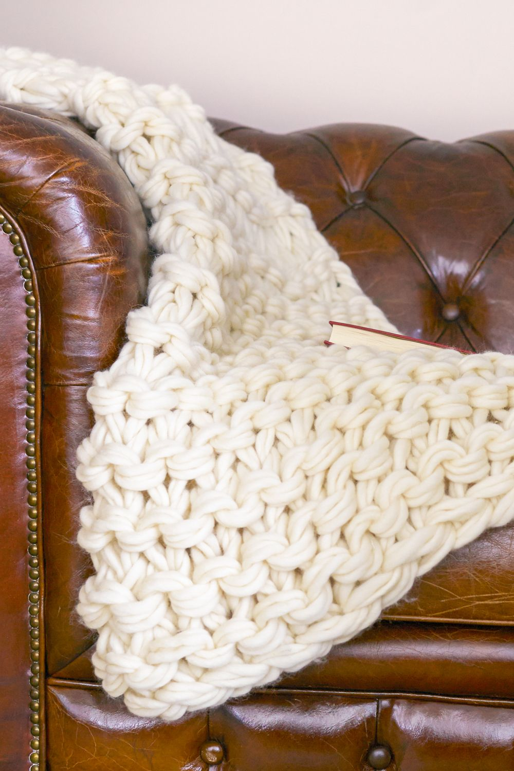 Arm Knit Blanket Tutorial and Giveaway Flax & Twine