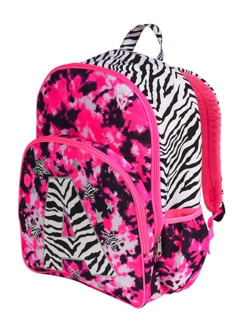 Dye Effect Zebra Initial Backpack | Girls Backpacks & School ...