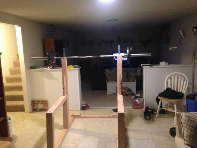 diy squat rack and bench press imgur wood work pinterest