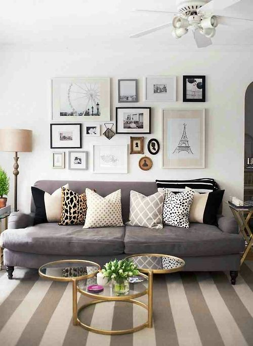 couch color and pillows My First Apartment Pinterest