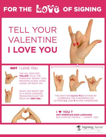 Tell Your Valentine I Love You in ASL