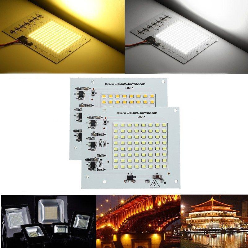 30W SMD2835 Outdoor Smart IC LED COB Chip Bead DIY Floodlight Lamp