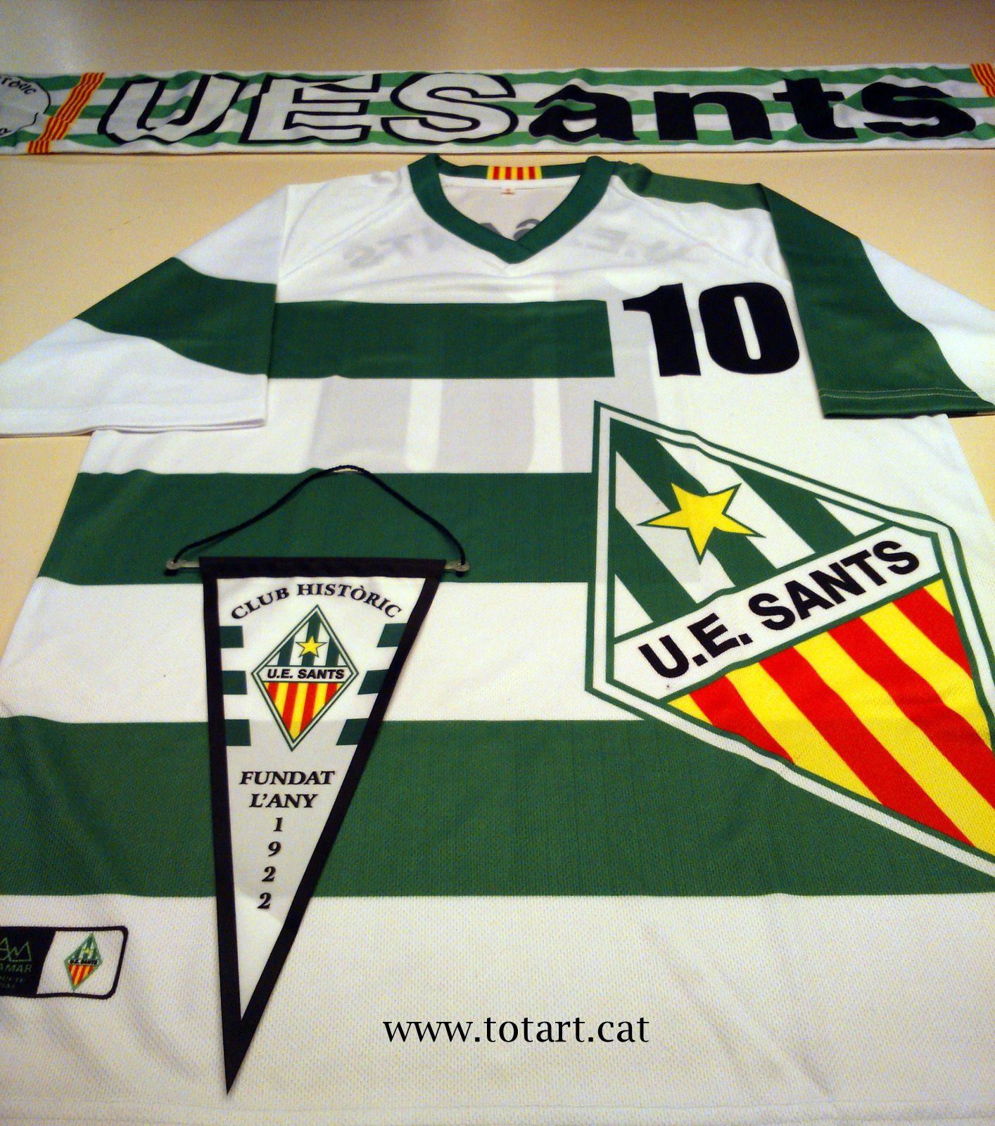 Camiseta de #Fútbol del equipod de futbol Unió Esportiva de Sants ...