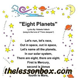 The Lesson Box  Eight Planets Song- Earth and Space    April