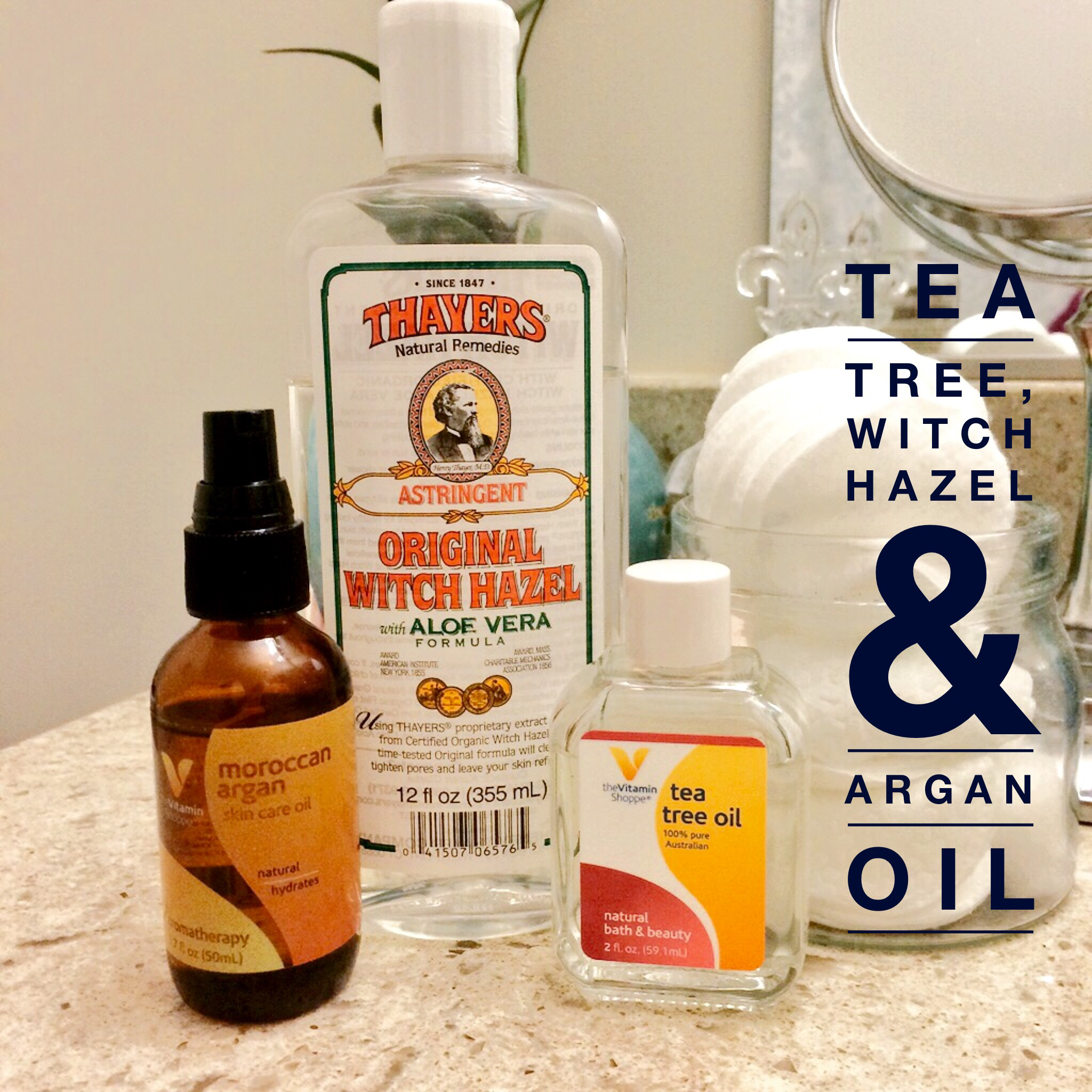 Got acne? Try this combination with witch hazel and oils