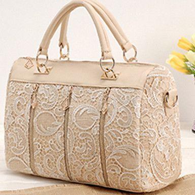 Women's Handbag Oblique Carry Casual Big Bag Retro Lace Bags