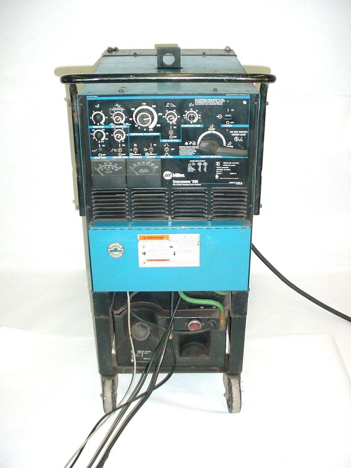 Miller Syncrowave 250 CC AC/DC Welding Power Source TIG Welder | mig ...