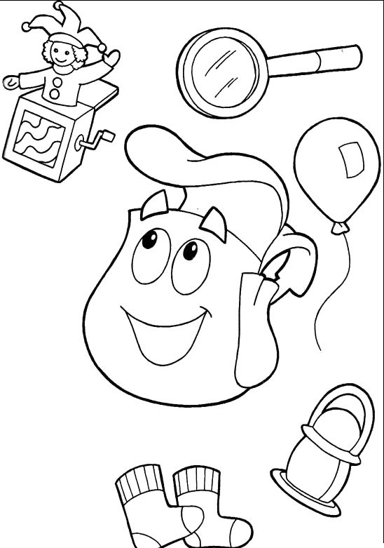 Appliances Dora The Explorer Coloring For Kids Dora The Explorer
