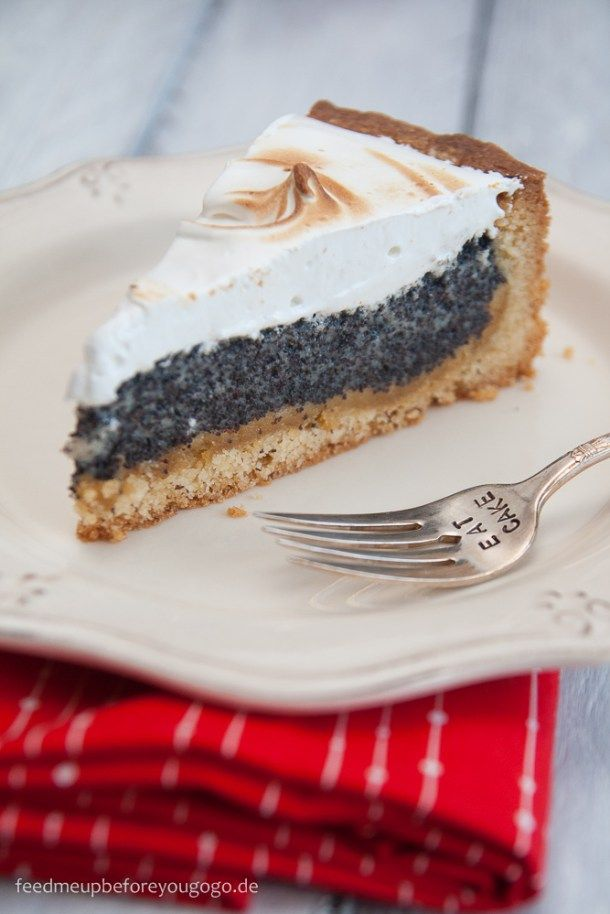 In Urlaubsstimmung Mohn Marzipan Kuchen Mit Baiserhaube