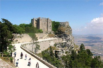 Erice - Norman fortress overlooking the Mediterranean Sea (1984)