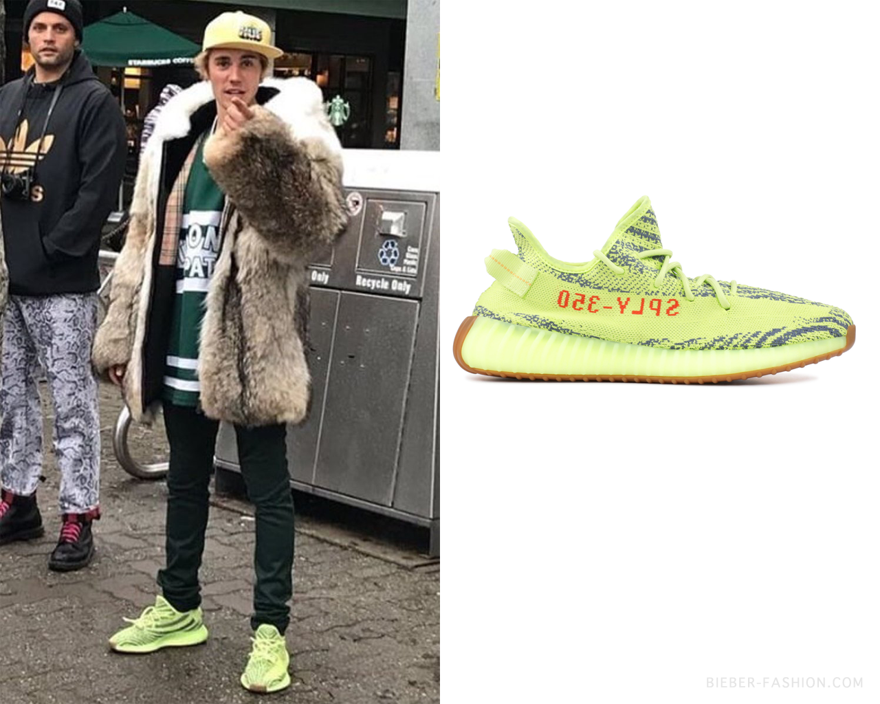 "bieber fashion: ""Adidas Yeezy Boost 350 V2 in Semi Frozen"