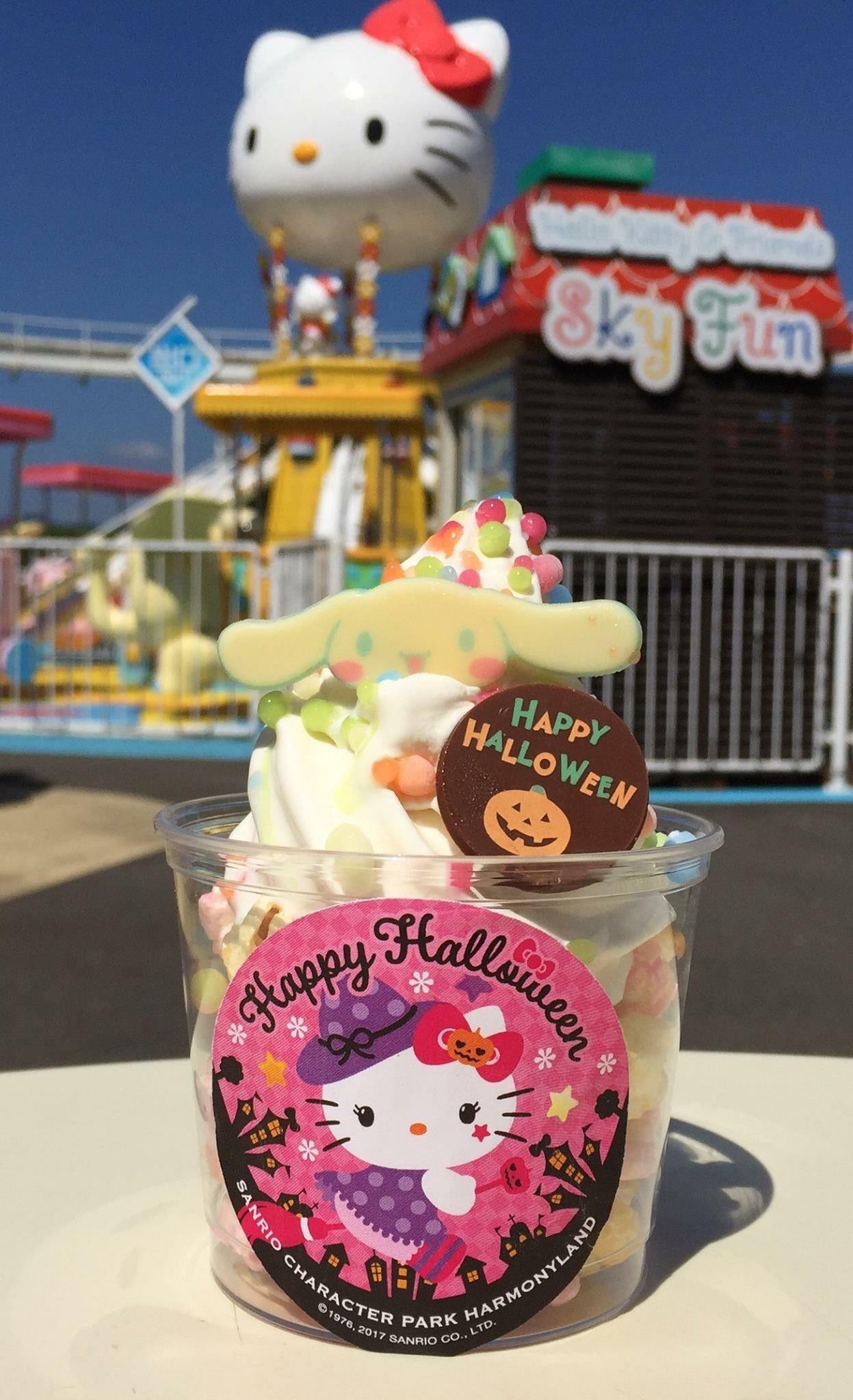 Sweet dessert #Cinnamoroll #HelloKitty at Harmony Land, Japan ...