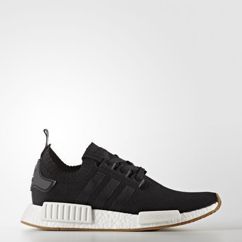 adidas nmd r1 primeknit pk core black gum by1887 nomad white new