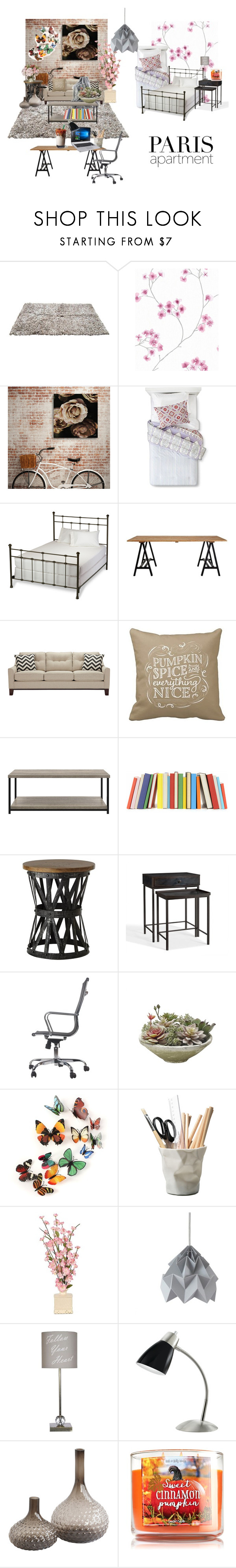 """""""Parisian Apartment"""" by wynonnamaree ❤ liked on Polyvore featuring interior, interiors, interior design, home, home decor, interior decorating, John Robshaw, L.L.Bean, Home Decorators Collection and Pottery Barn"""