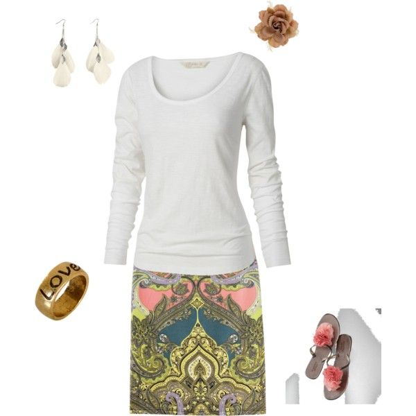 Isabella, my 6 year old, made this outfit for me!, created by kara-putman on Polyvore