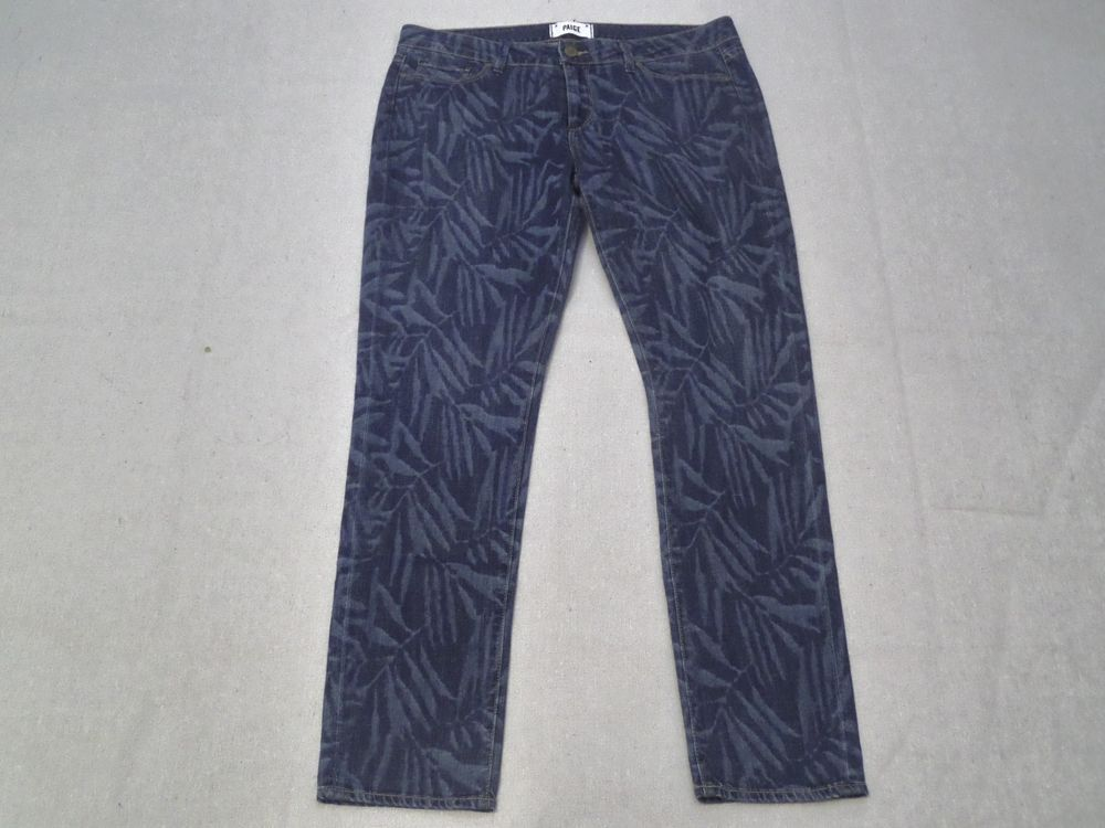 PAIGE LASER BAMBOO SKYLINE ANKLE SKINNY PEG MID RISE NEW NWT DENIM JEANS SIZE 31