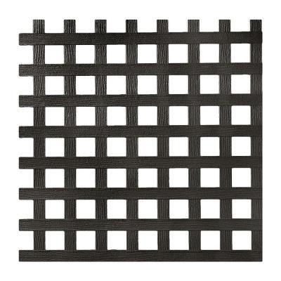 4 Ft X 8 Ft Black Privacy Square Vinyl Lattice Framed 222602 The Home Depot Plastic Lattice Square Lattice Lattice