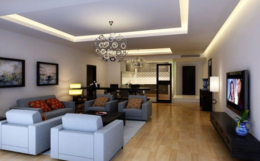 Beautiful Living Room Lighting Setup Ideas With Cove Ceiling And Unique Pendant Lamp Also Freestanding Shaded Floor Design