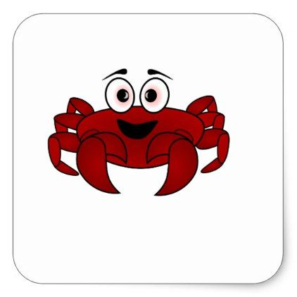 crab square sticker
