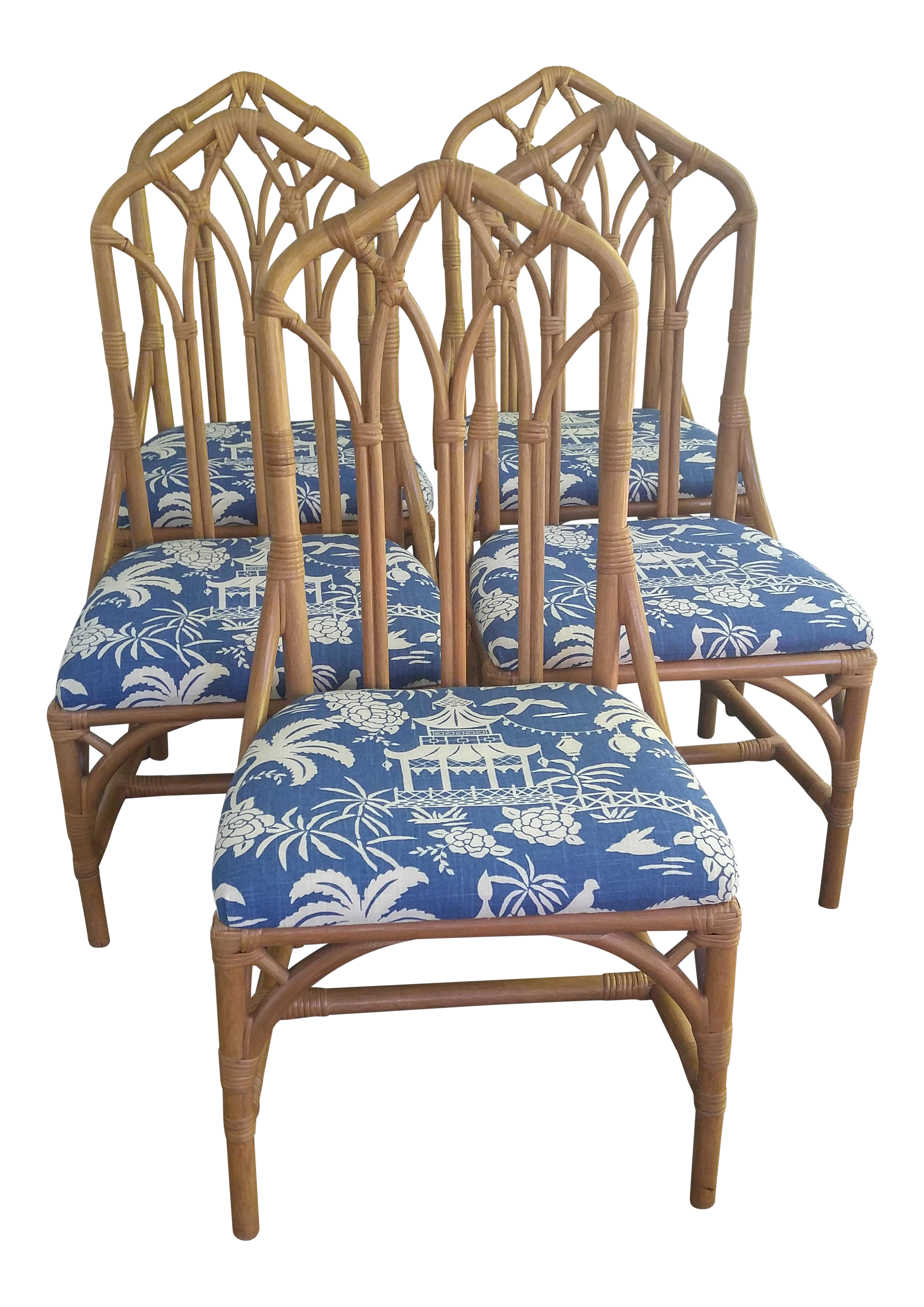 Henry Link Rattan Dining Chairs Set of 5