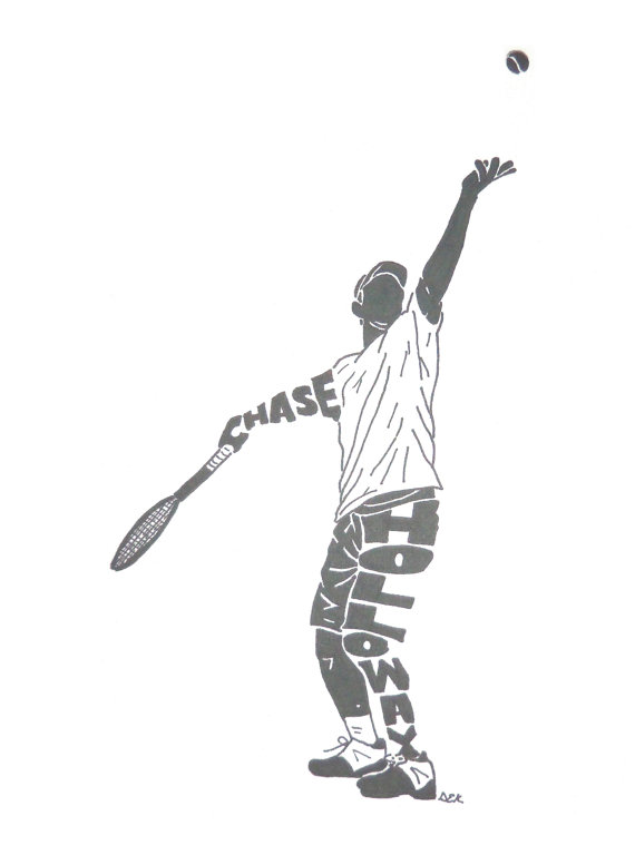 Men S Tennis Silhouette Etsy Mens Tennis Tennis Photos Silhouette