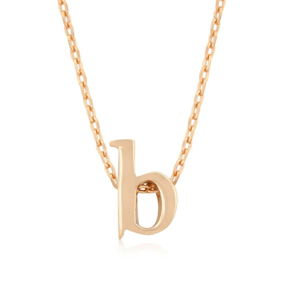 Rose gold initial b pendant products