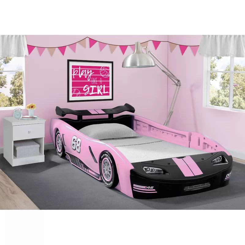 Zion Turbo Twin Car Bed Toddler Bed Frame Pink Bedroom