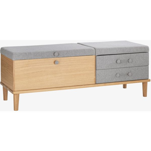 Inspirational Hako Grey Bench With Storage $890 ❤ liked on Polyvore Simple Elegant - Amazing bedroom benches with storage Awesome